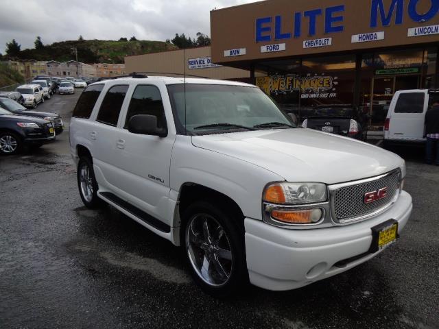 2001 GMC YUKON DENALI AWD 4DR SUV white 22 inch wheels dvd leather 3rd row seat running boards