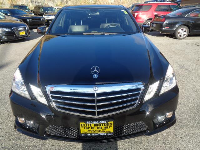 2010 MERCEDES-BENZ E-CLASS E350 black panoramic roof amg package 1 owner like new leather navi