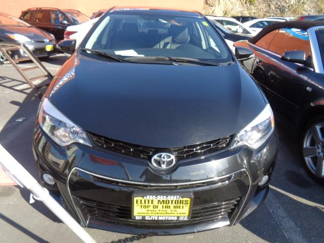2013 TOYOTA COROLLA S 4DR SEDAN 4A black child safety door locks power door locks vehicle anti-