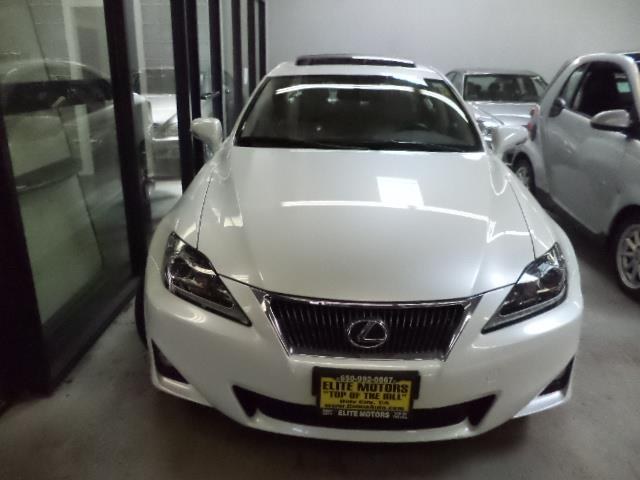 2012 LEXUS IS 250 BASE 4DR SEDAN 6A starfire pearl warranty navigation backup camera heated and