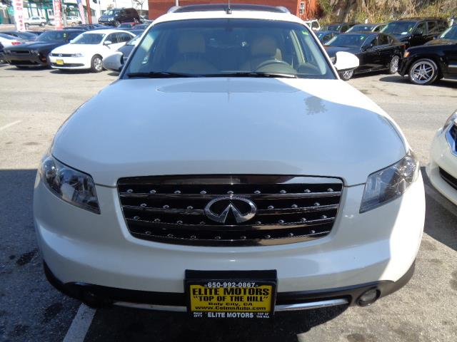 2008 INFINITI FX35 BASE 4DR SUV white grille color - chromemirror color - body-colorrear spoile