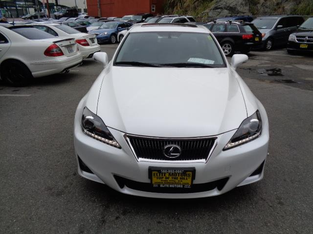 2012 LEXUS IS 250 BASE 4DR SEDAN 6A pearl white navigation backup camera heated seats exhaust -