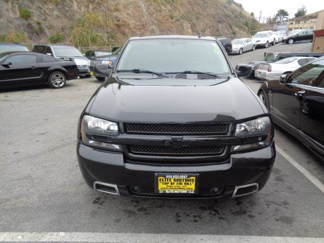 2008 CHEVROLET TRAILBLAZER SS black granite metallic all wheel drive leather moon roof custom