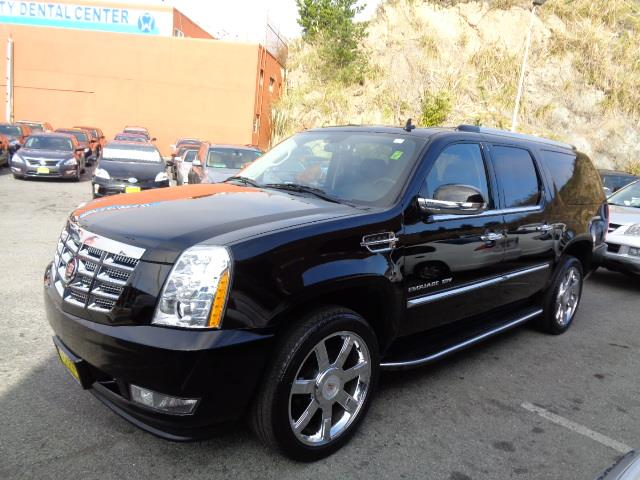 2012 CADILLAC ESCALADE ESV LUXURY AWD 4DR SUV black raven navigation heated and cooled seats 3rd