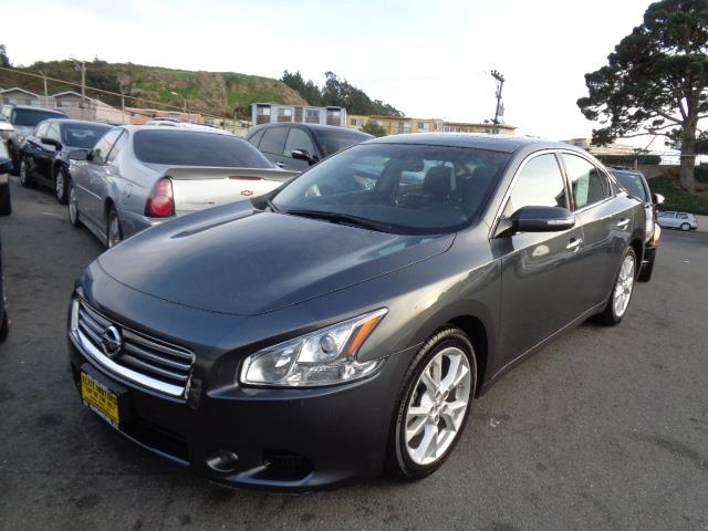 2013 NISSAN MAXIMA S SEDAN graphite grey leather moon roof 54851 miles VIN 1N4AA5AP8DC829628