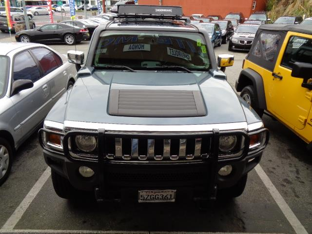 2007 HUMMER H3 slate blue metallic in dash navigation leather moon roof 69401 miles VIN 5GT
