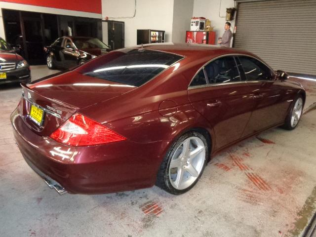 2006 MERCEDES-BENZ CLS-CLASS CLS55 AMG 4DR SEDAN bordeaux red metallic rare supercharged cls55 amg