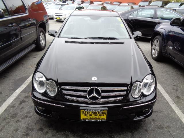 2006 MERCEDES-BENZ CLK-CLASS CLK500 2DR COUPE black navigation heated seats rear spoilerair fil