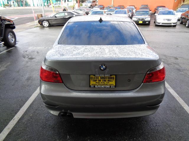 2005 BMW 5 SERIES 525I 4DR SEDAN silver grey metallic beverage coolercenter console trim - woodd