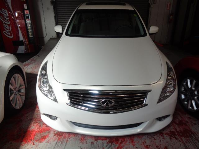 2012 INFINITI G37 SEDAN G37 JOURNEY pearl white technology package navigation backup camera he