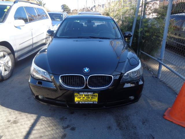 2005 BMW 5 SERIES 530I 4DR SEDAN black abs 4-wheel air conditioning am fm stereo bmw assist c