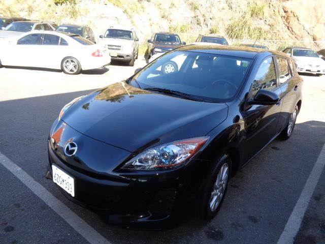 2013 MAZDA MAZDA3 I TOURING 4DR HATCHBACK 6A black exhaust tip color - metallicrear spoiler - ro