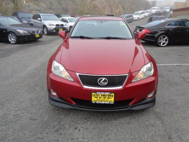 2008 LEXUS IS 250 BASE matador red 91209 miles VIN JTHBK262985073291