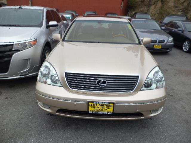 2003 LEXUS LS 430 BASE 4DR SEDAN mystic gold metallic navigation heated and cooled seats air cond