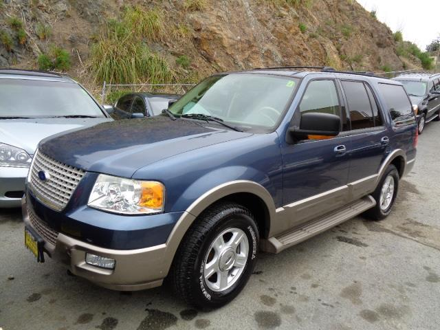 2004 FORD EXPEDITION EDDIE BAUER 4WD 4DR SUV blue leather 3rd row seat dvd system running board