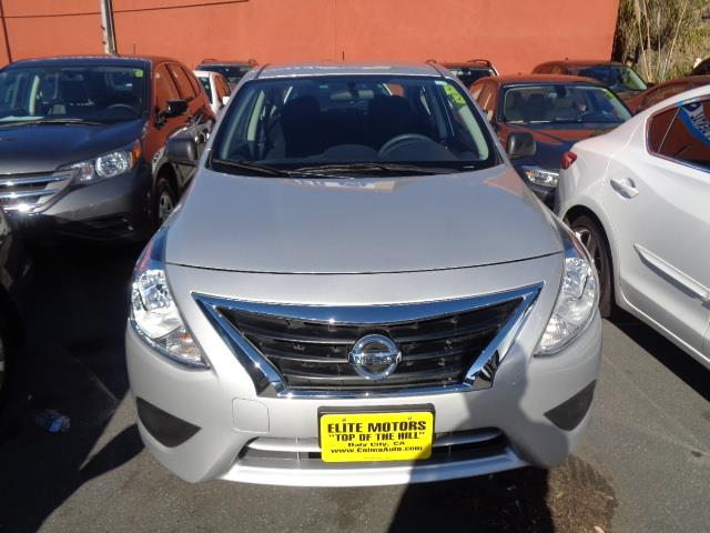 2015 NISSAN VERSA 16 S 4DR SEDAN 4A silver child safety door locks abs brakes electronic brake