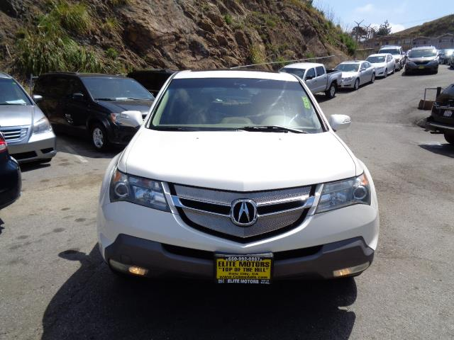 2007 ACURA MDX SH-AWD WTECH WRES 4DR SUV WTE pearl white navigation leather heated seats ba