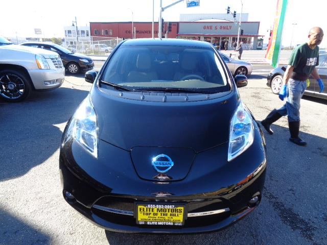 2012 NISSAN LEAF SL HATCHBACK black navigation backup camera heated seats navigation backup ca