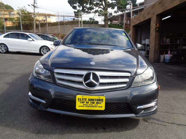 2013 MERCEDES-BENZ C-CLASS C250 SPORT 4DR SEDAN sapphire grey metallic navigation sport package