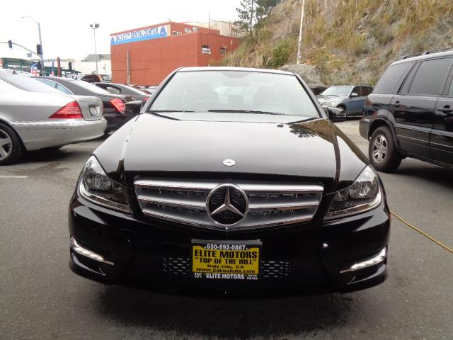 2013 MERCEDES-BENZ C-CLASS C250 SPORT 4DR SEDAN black sport package navigation lease return fro