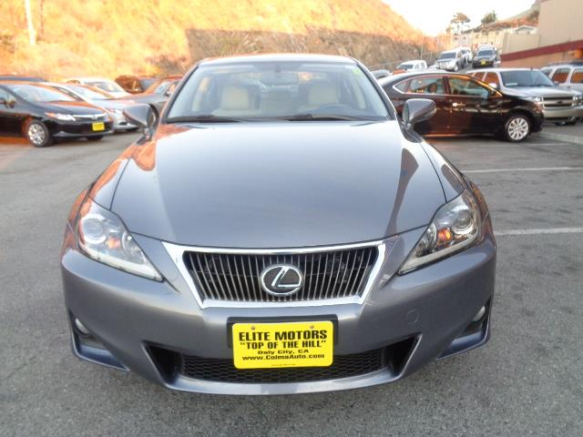 2013 LEXUS IS 250 BASE 4DR SEDAN gray navigation moon roof back up camera child safety door lo