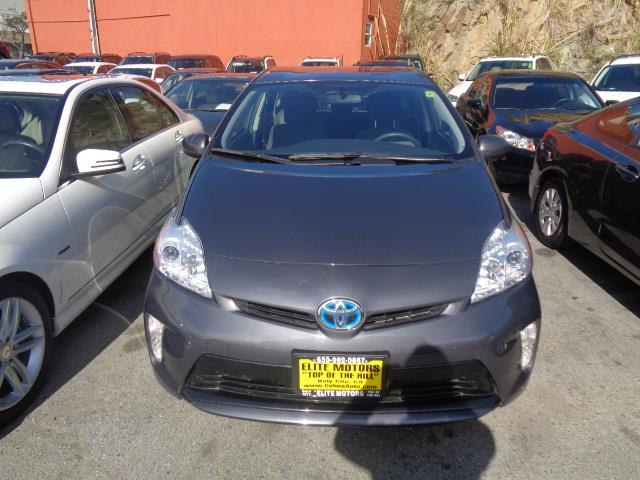 2014 TOYOTA PRIUS III HATCHBACK gray air conditioning alarm power steering power windows powe