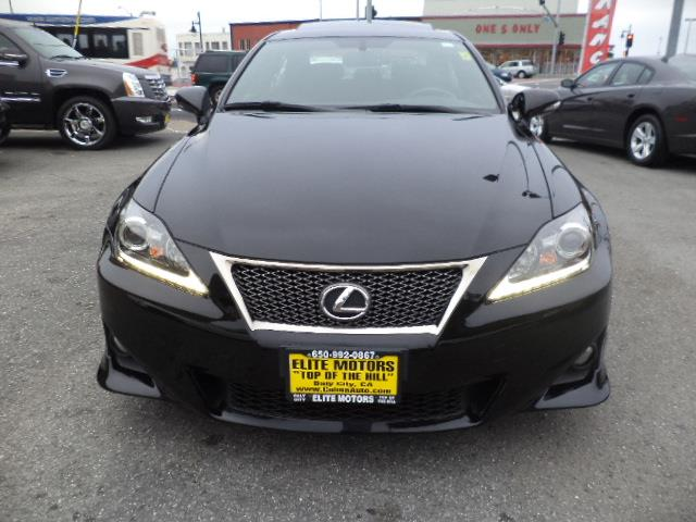 2011 LEXUS IS 250 BASE 4DR SEDAN 6A black obsidian f sport package lease return  navigation ba