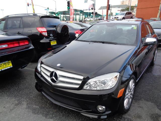 2008 MERCEDES-BENZ C-CLASS C300 SPORT 4DR SEDAN black sport package exhaust - dual exhaust tipsex