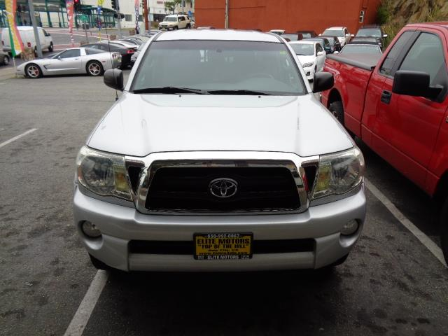 2007 TOYOTA TACOMA PRERUNNER V6 4DR DOUBLE CAB 50 silver bumper detail - paintedskid platesf