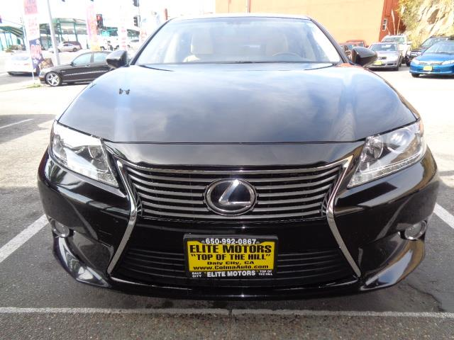 2013 LEXUS ES 350 BASE 4DR SEDAN black navigation moon roof leather heated seats door handle co