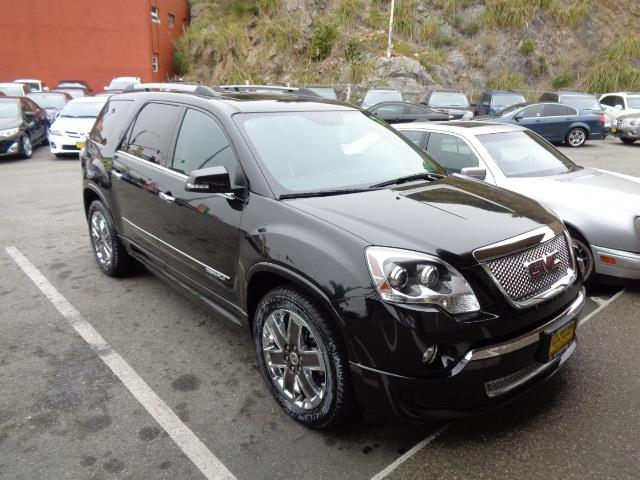 2012 GMC ACADIA DENALI 4DR SUV carbon black metallic navigation dvd heated and cooled seats ba