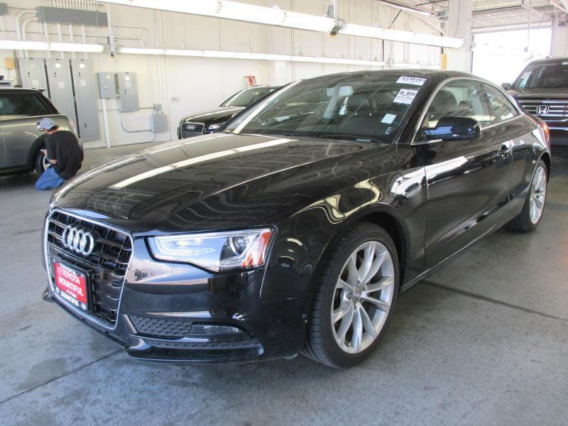 2013 AUDI A5 20T QUATTRO PREMIUM PLUS AWD 2D black door handle color - body-colorexhaust - dual
