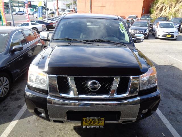 2010 NISSAN TITAN SE 4X2 4DR CREW CAB SWB PICKUP black body side moldings - body-colorbumper col
