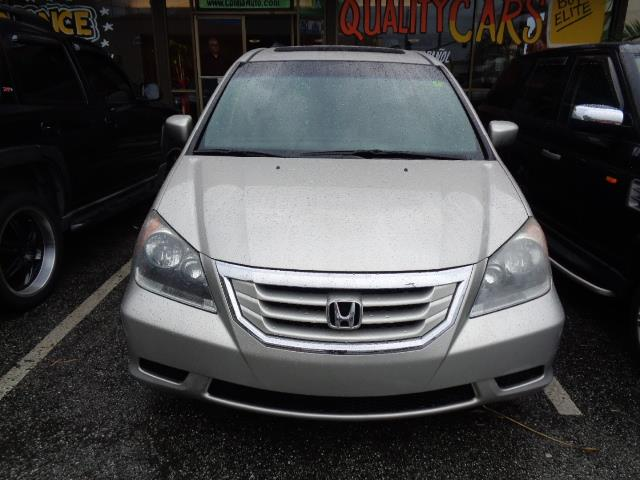 2008 HONDA ODYSSEY EX-L MINI VAN silver leather seats rear spoiler - rooflinebody side moldings