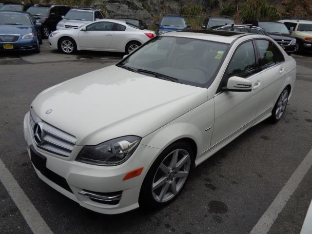 2012 MERCEDES-BENZ C-CLASS C250 SPORT 4DR SEDAN arctic white navigation amg wheels grille color