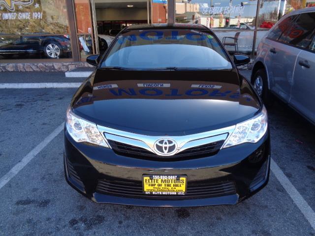 2014 TOYOTA CAMRY black warranty 23845 miles VIN 4T1BF1FK7EU316237