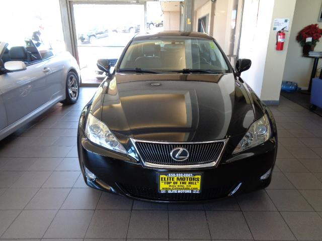 2008 LEXUS IS 250 BASE 4DR SEDAN 6A obsidian navigation backup camera heated seats bumper color
