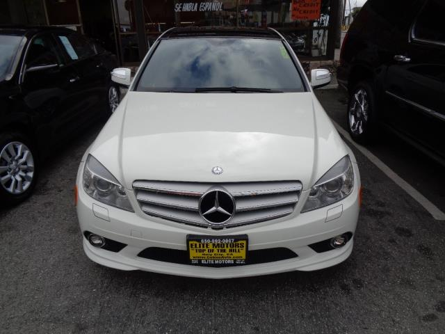 2009 MERCEDES-BENZ C-CLASS C350 SPORT 4DR SEDAN arctic white navigation amg sport wheels heated