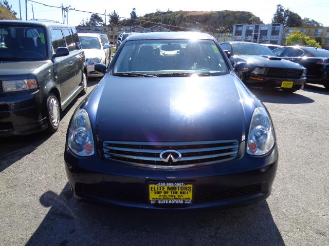 2005 INFINITI G35 BASE RWD 4DR SEDAN sapphire blue rear spoilerautomatic climate control 2 zone