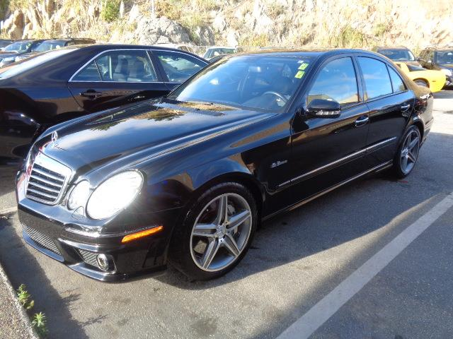 2008 MERCEDES-BENZ E-CLASS E63 AMG 4DR SEDAN black exhaust - dual exhaust tipsexhaust tip color