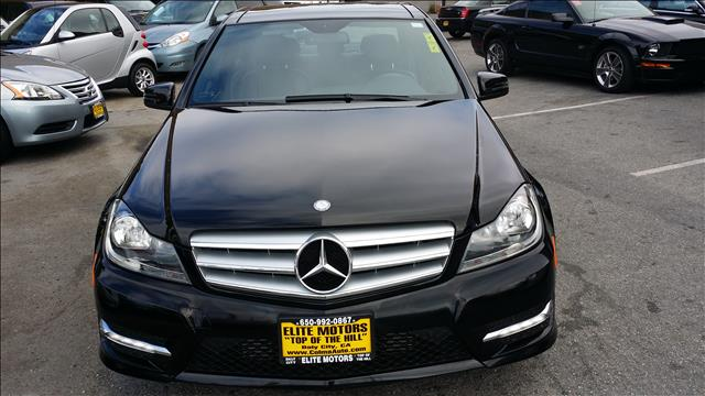 2013 MERCEDES-BENZ C-CLASS C250 SPORT 4DR SEDAN black bluetooth navigation heated seats panaram