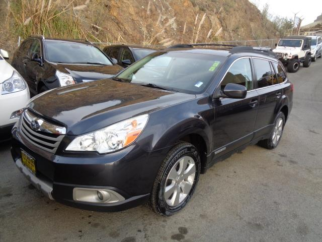2011 SUBARU OUTBACK 36R LIMITED AWD 4DR WAGON steel blue grey leather moon roof bumper detail -