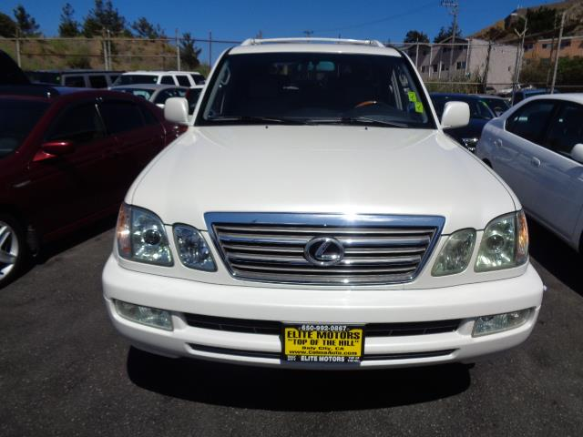 2004 LEXUS LX 470 BASE 4WD 4DR SUV pearl white navigation 3rd row seat heated seats moon roof