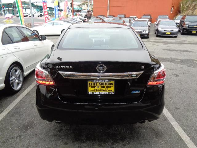 2014 NISSAN ALTIMA 25 S 4DR SEDAN black warranty body side moldingbody side molding chromedoor