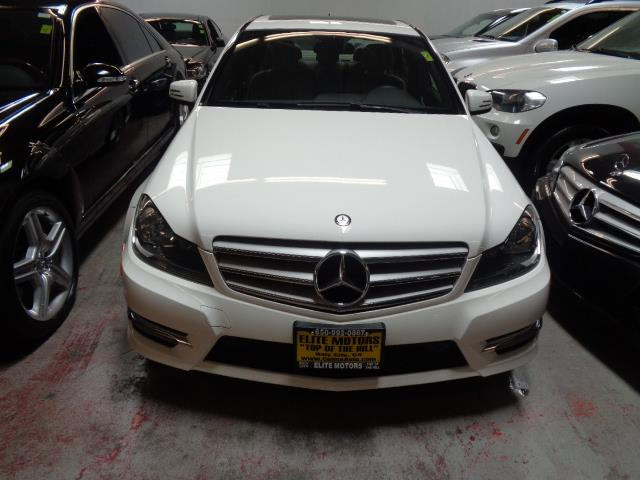 2013 MERCEDES-BENZ C-CLASS C250 SPORT 4DR SEDAN polar white navigation sport package front bumper