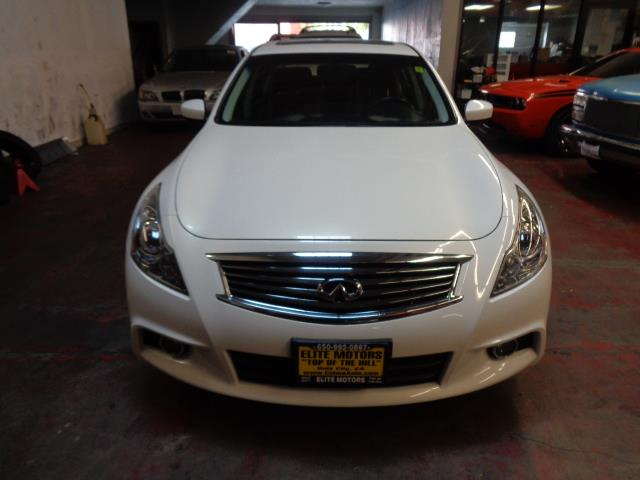 2012 INFINITI G37 SEDAN SPORT 4DR SEDAN moonlight white metallic rare 6 speed manual bumper color