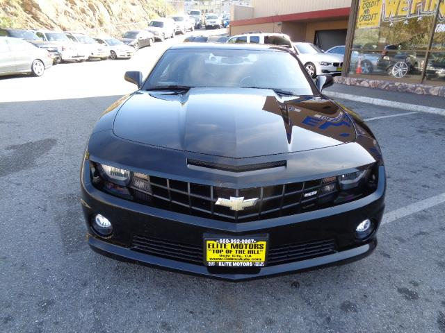 2013 CHEVROLET CAMARO SS 2DR COUPE W2SS black gray with black stripes outdoor vehicle coverred w