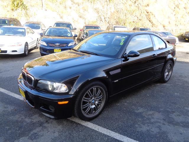 2003 BMW M3 BASE 2DR COUPE jet black ultra rare 6 speed manual metallic paintrear spoileralumin