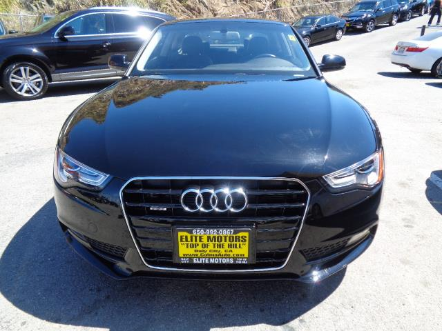 2013 AUDI A5 20T QUATTRO PREMIUM PLUS AWD 2D black leather moon roof navigation system heated