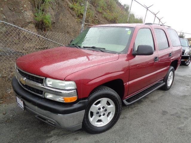 2004 CHEVROLET TAHOE LS 4DR SUV sport red metallic running boardsfront air conditioningfront ai